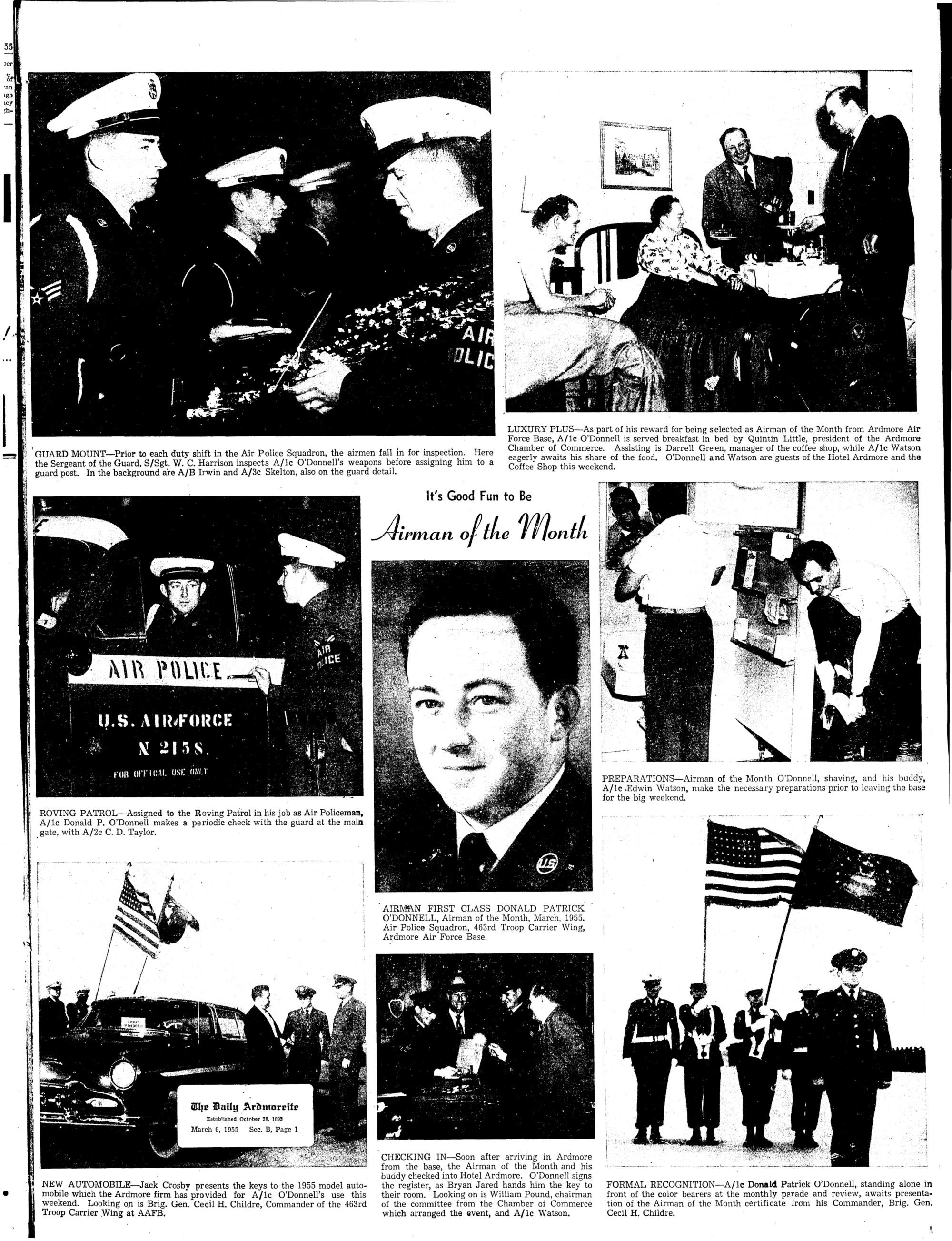 Ardmore Air Force Base-Memory Jogger-1953-59